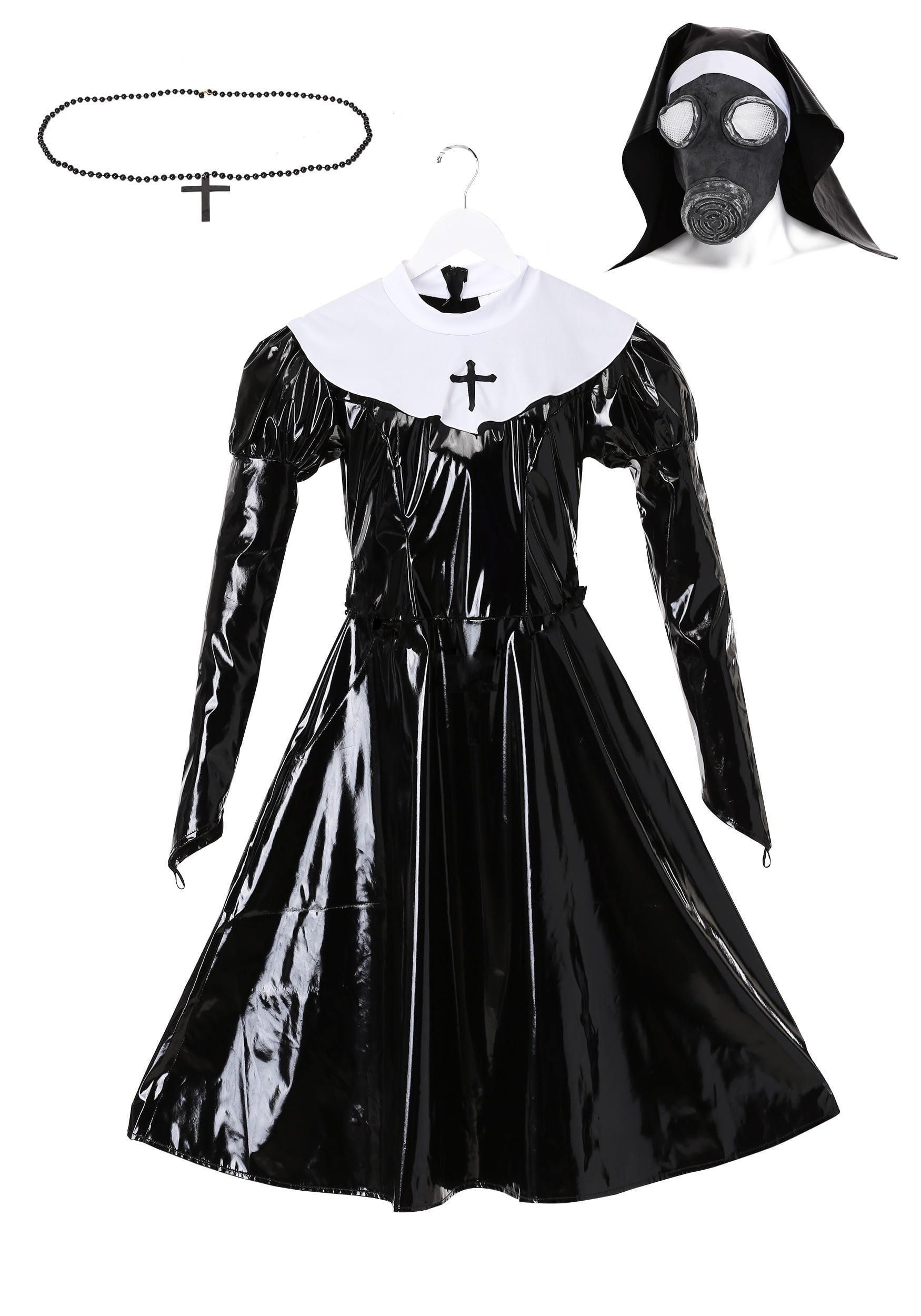 Nun Kit Catholic Church Habit Fancy Dress Up Halloween Adult Costume Accessory