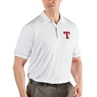 Texas Rangers Antigua Salute Polo - White/Gray