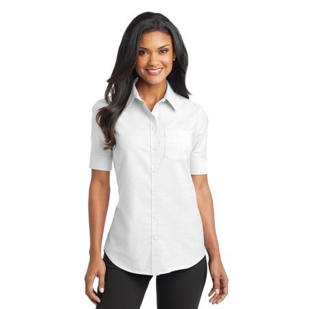 Port Authority Ladies Short Sleeve SuperPro Oxford