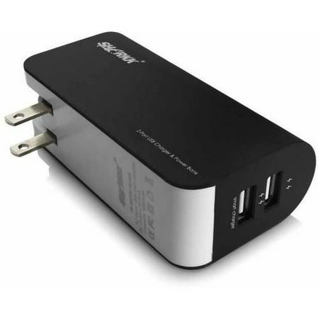 SHARKK 5,000mAh Dual-USB Portable Backup Battery/Power Bank/Wall Plug Charger