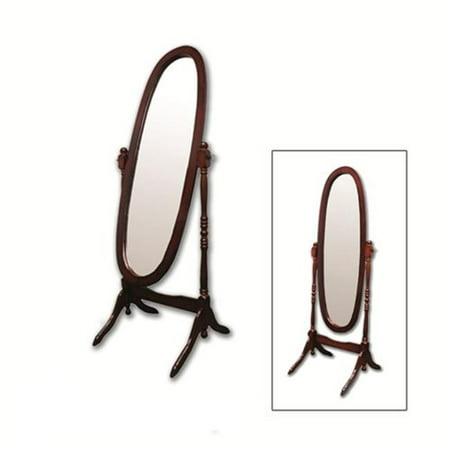 Cherry Finish Cheval Floor Mirror