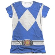 Mighty Morphin Power Rangers Blue Ranger Juniors Sublimation Shirt