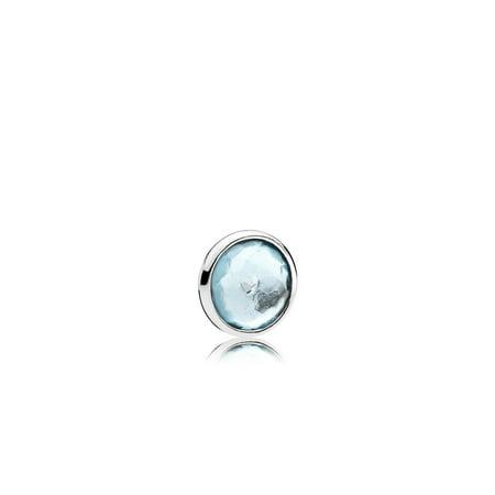 - March petite element in sterling silver w/1 bezel-set flower Charm 792175NAB