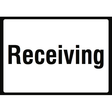 Order Metal - Receiving Shipping Area Sign - Large Pick Up Packages Orders Signs - Aluminum Metal, 12x18