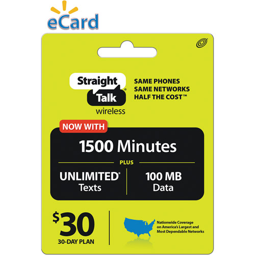 Straight Talk All You Need Plan $30 Direct Load (Email Delivery)
