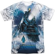 Polar Express Animated Fantasy Movie Train Poster Adult Front Print T-Shirt