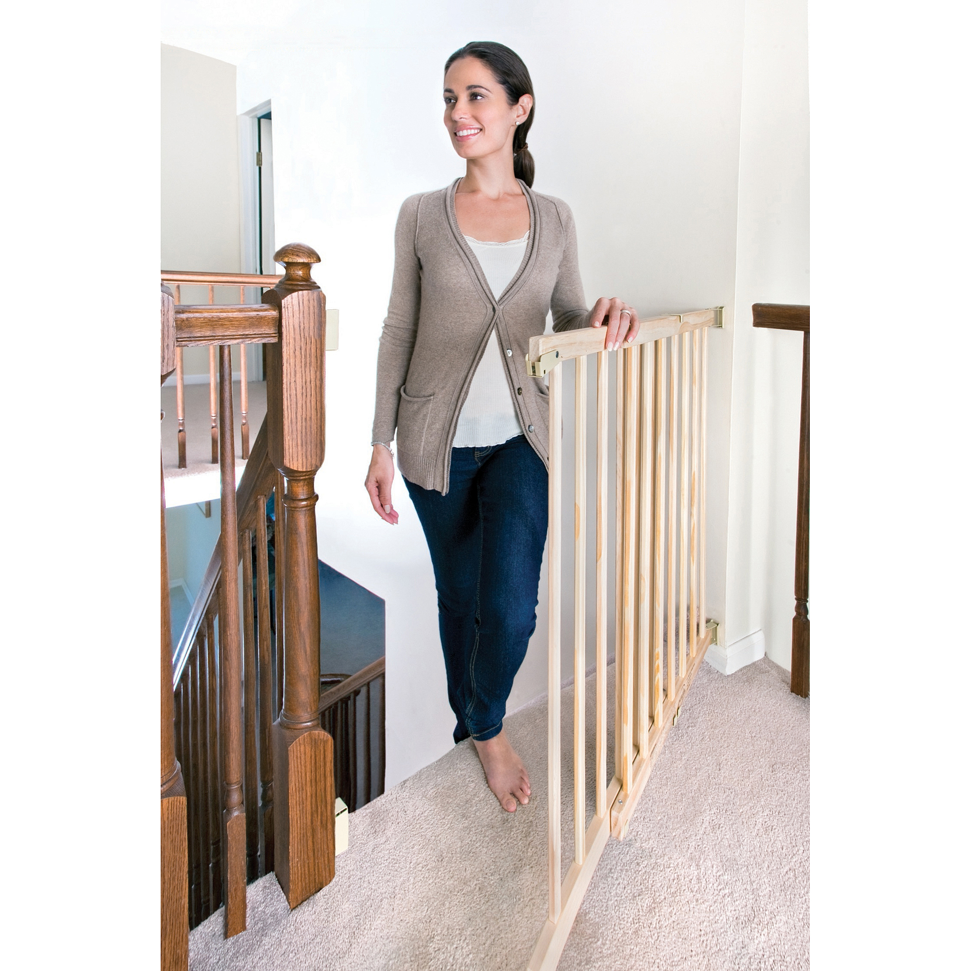 Evenflo - Top of the Stairs Extra-Tall Gate