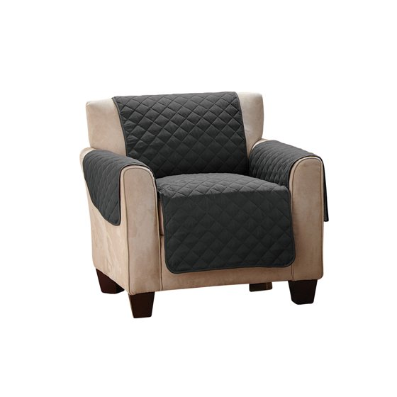 Reversible Quilted Furniture Protector Cover Chair Black