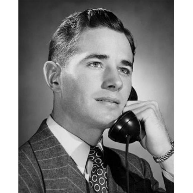 Posterazzi SAL25548263 Young Businessman Using Telephone Poster Print - 18 x 24 in. - image 1 of 1
