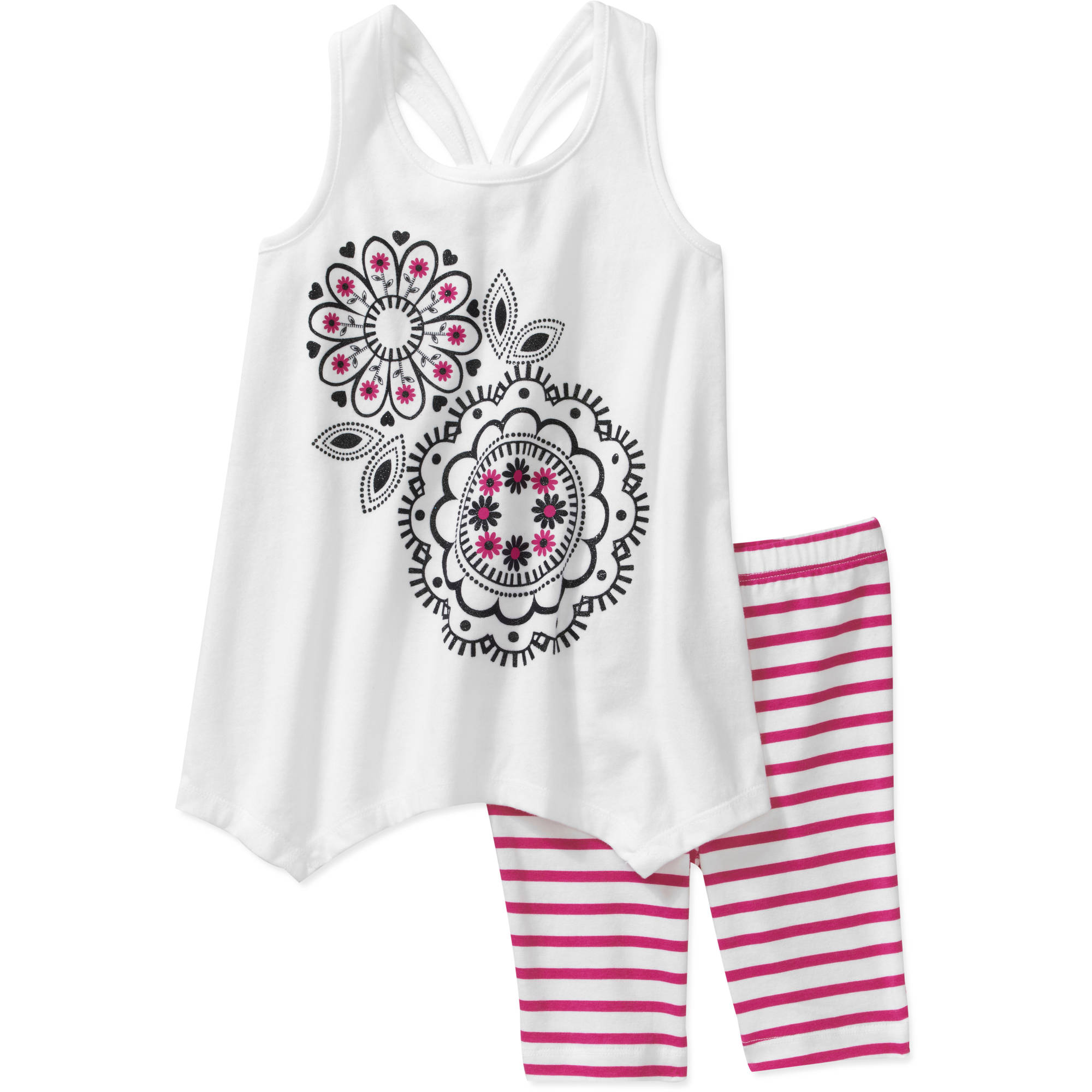 Healthtex Baby Girls' 2 Piece Knotted Back Tunic and Short Set