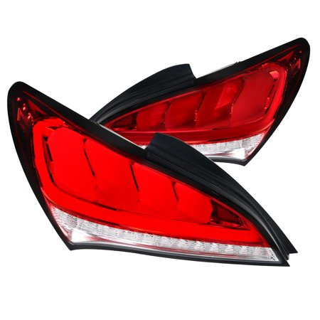 Spec-D Tuning For 2010-2016 Hyundai Genesis Coupe 2Dr Red Led Sequential Brake Tail Lights 2011 2012 2013 2014