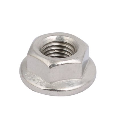 8pcs M8 x 1mm Pitch Metric Fine Thread 304 Stainless Steel Hex Flange Nut - image 3 of 4