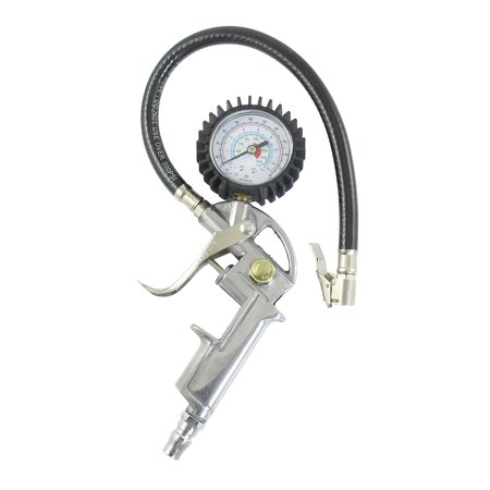 Portable 0-220Psi Tire Dial Inflator Gauge  for Auto Car Motorcycle (Motorcycle Tire Gauge)