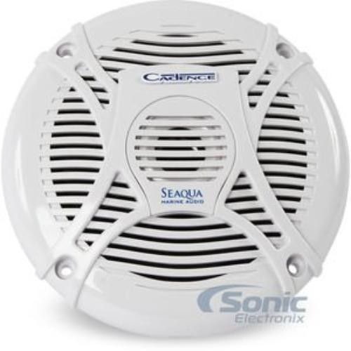 "Cadence SQS65W 200W 6.5"" 2-Way SQS Series Marine Coaxial Marine Speakers (White)"