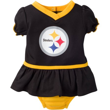 51e5f72c0 NFL Pittsburgh Steelers Baby Girls Mesh Dazzle Dress and Panty Set ...