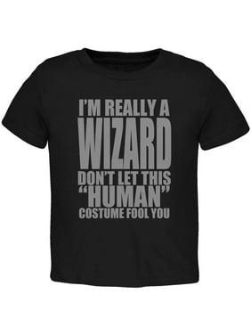 Halloween Human Wizard Costume Toddler T Shirt