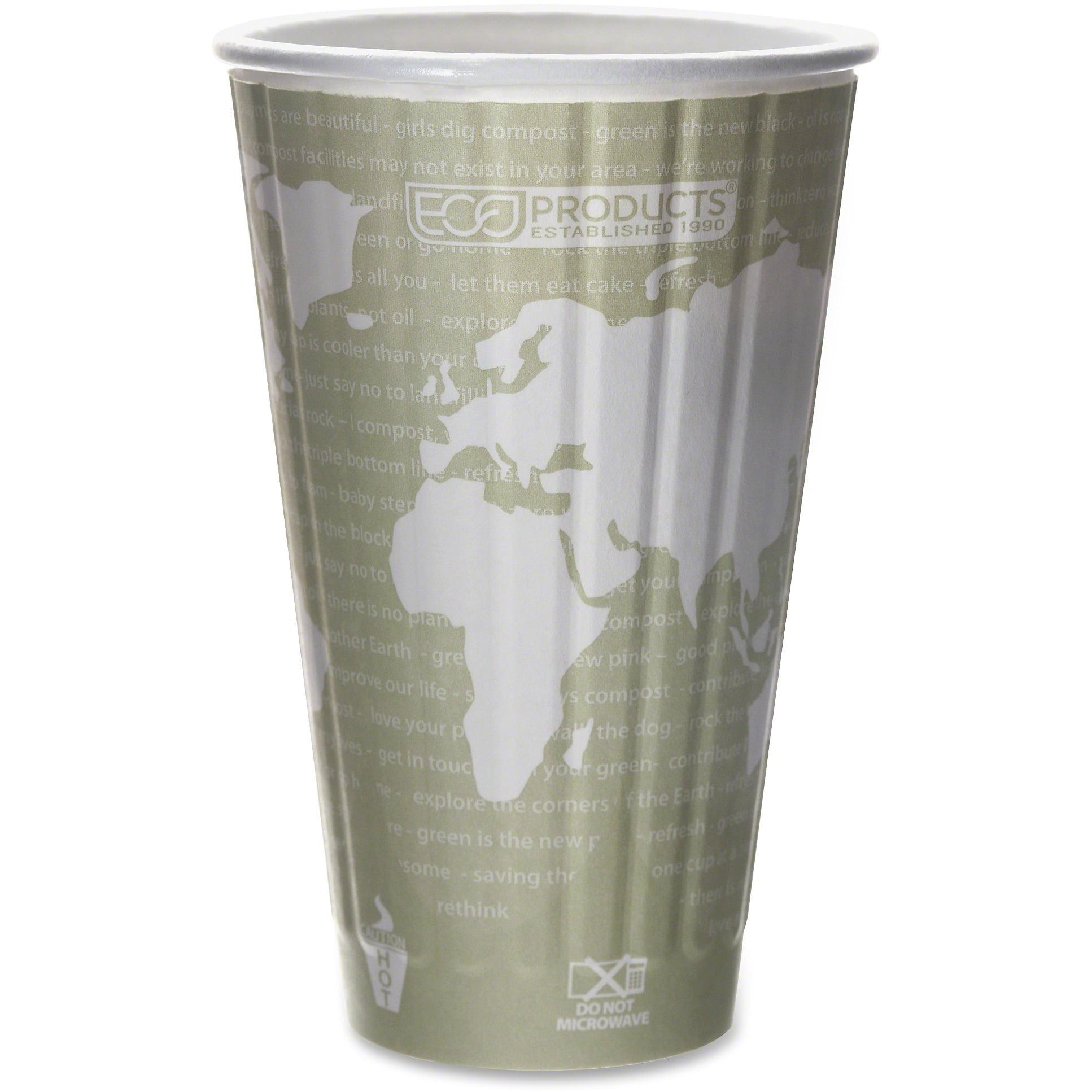 Eco-Products, ECOEPBNHC16WD, World Art Insulated Hot Cups, 600 / Carton, Tan, 16 fl oz