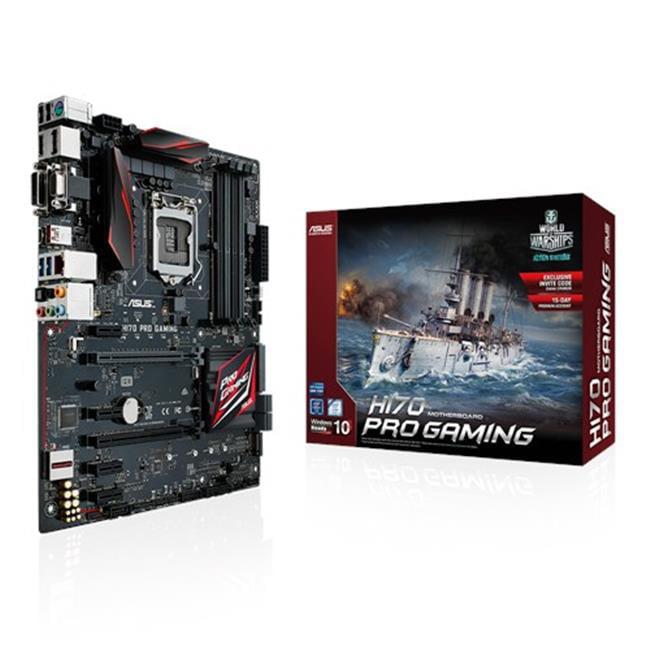 Asus H170 Pro Gaming Desktop Motherboard - Intel H170 Chipset - Socket H4 Lga-1151 - Atx - 1 X Processor Support - 64 Gb Ddr4 Sdram Maximum Ram - 2.13 Ghz] Memory Speed Supported - (h170progaming)