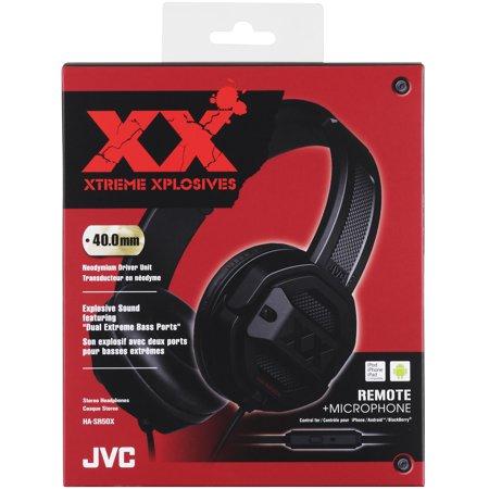 f30d7dd8716 JVC HA-SR50X XTREME XPLOSIVES series headphones (Black) - image 1 of 2 ...