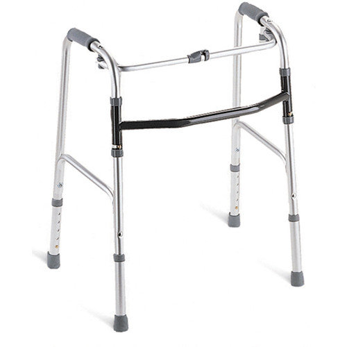 """Medline Youth One-Button Folding Walkers 3"""" OR 5"""", 2 Count"""