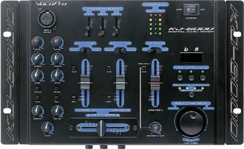 VocoPro 2-Ch. Mixer w  Digital Key Control & Vocal Eliminator by VocoPro