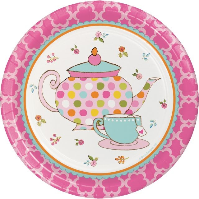 """Party Creations Tea Time Lunch Plate, 7"""", 8 Ct"""