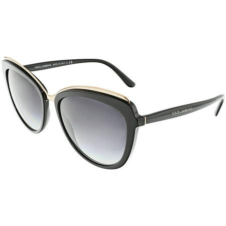 Dolce & Gabbana Women's Gradient DG4304-501/8G-57 Black Butterfly Sunglasses Dolce And Gabbana Inspired Sunglasses