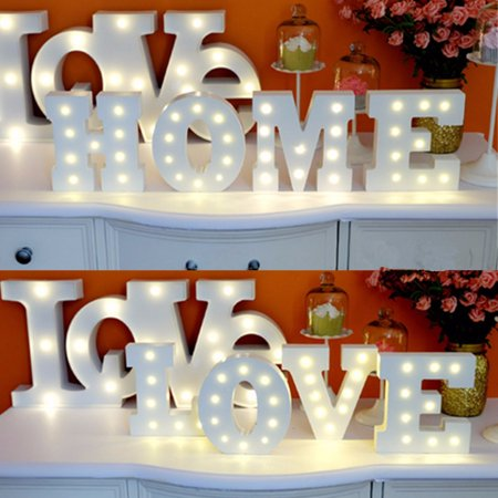 Marquee Halloween Party 2017 (1Pcs N-Z Alphabet Wooden Letter Lights LED Marquee Light Standing Hanging Light UP Wedding Party Decor)
