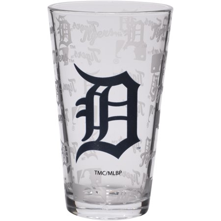 Detroit Tigers 16oz. Sandblasted Mixing Glass - No (Detroit Lions Glass)
