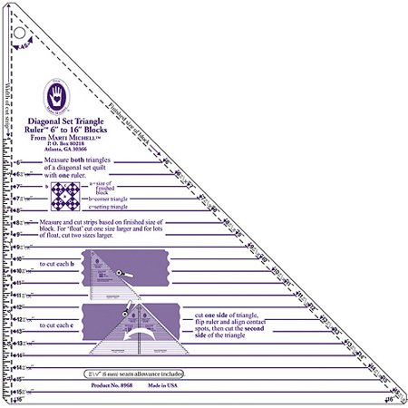 Large Diagonal Set Triangle Ruler, 6