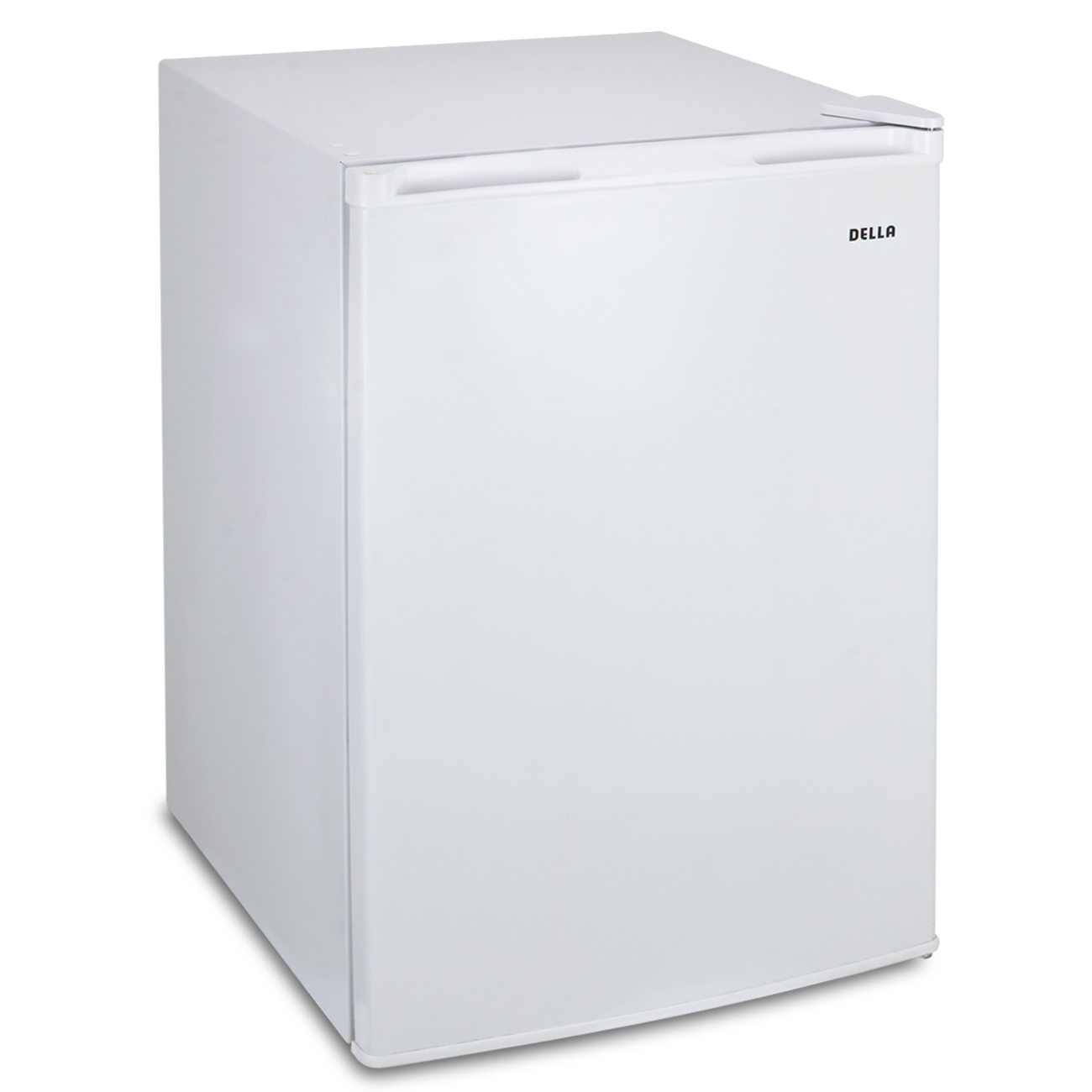 Della 4.5 Cubic FT Compact Single Reversible Door Mini Refrigerator and Freezer, White