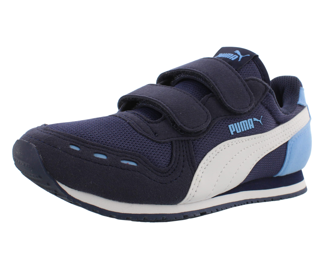 Puma Cabana Racer Mesh V Ps Boys Shoes Size 2, Color: Navy/White ...