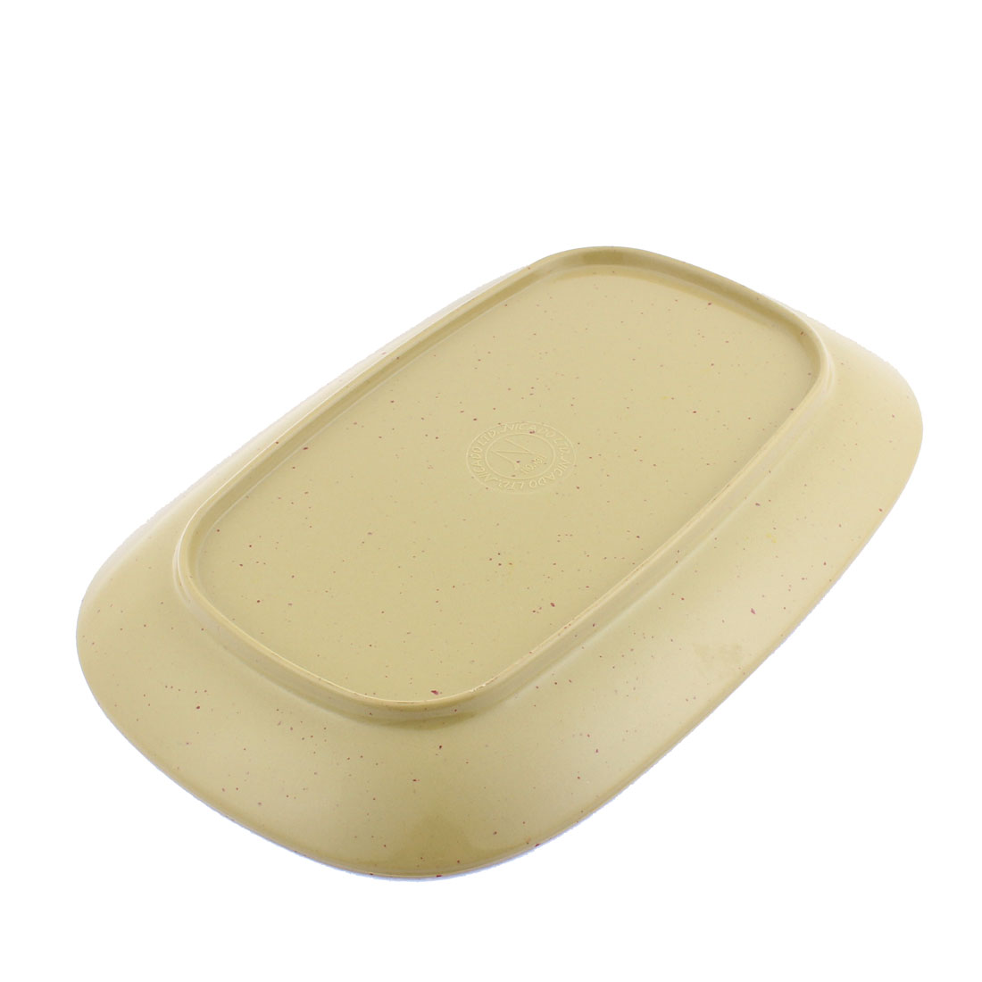 Unique Bargains Rectangle Shaped Character Pattern Lunch Food Dish Plate Olive Green - image 1 de 2