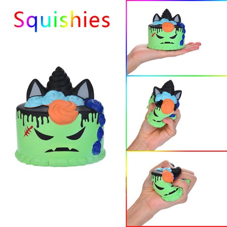 Squishy Circuits Halloween (Halloween Demon Cake Scented Squishies Slow Rising Kids Toys Stress Relief)