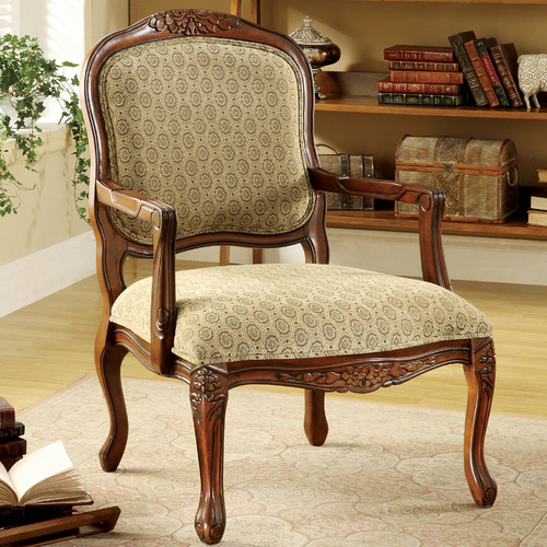 Hokku Designs Atlantic Hand-Carved Fabric Armchair by Hokku Designs