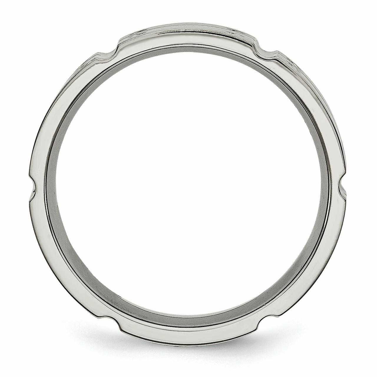 Titanium 6mm Brushed Wedding Ring Band Size 12.50 Fancy Fashion Jewelry Gifts For Women For Her - image 1 de 10