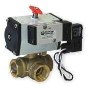DYNAQUIP CONTROLS Ball Valve,1 1/4 In,Double Acting,Brass PYHG6AUD02A