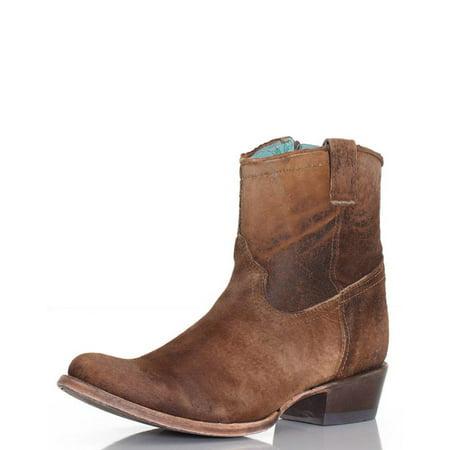Lamb Booties - CORRAL Boots Chocolate Tan Lamb Booties