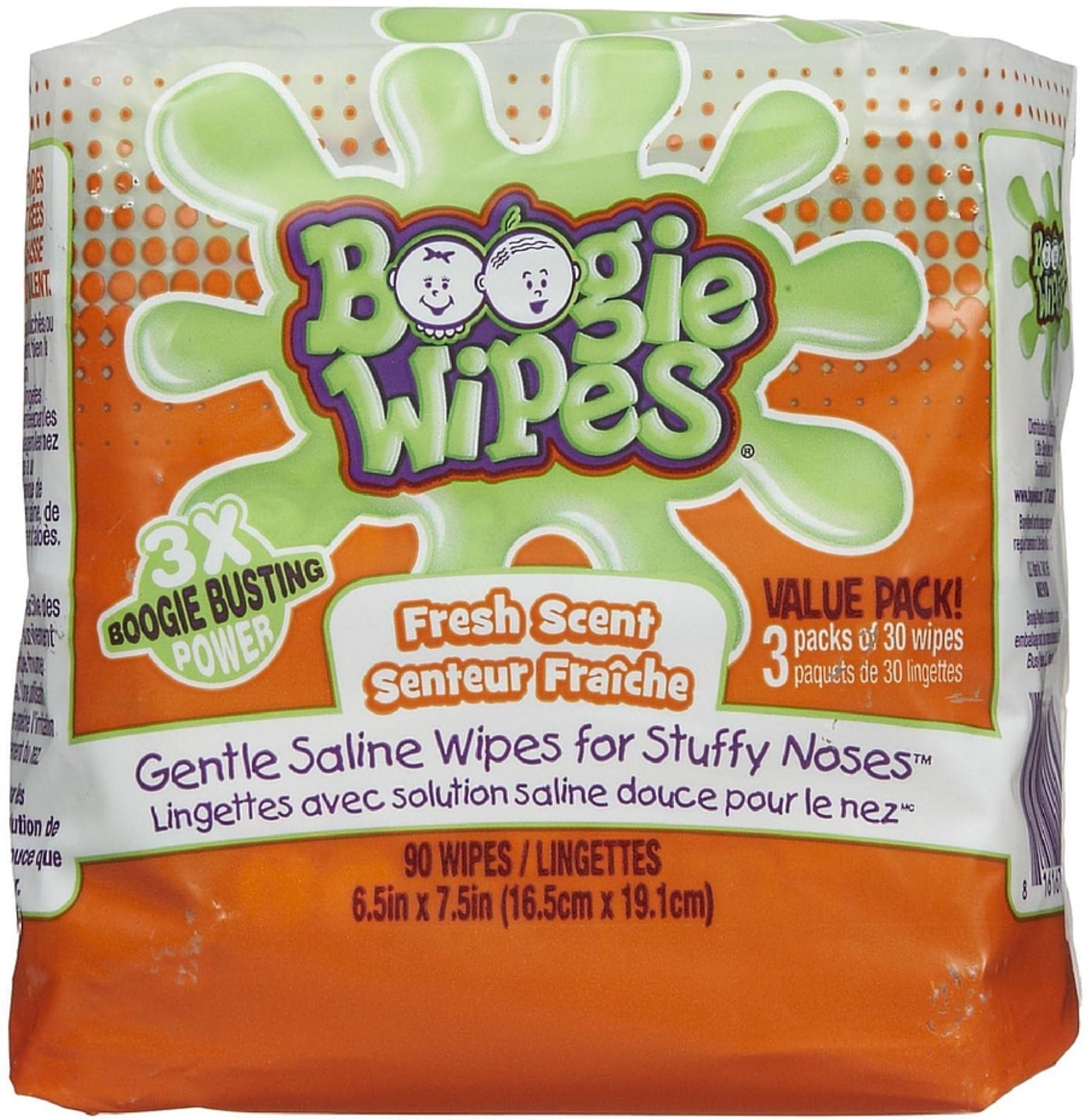 Boogie Wipes Gentle Saline Wipes, Fresh 90 ea