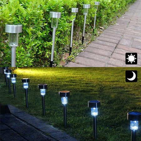 Solar Powered LED Lights Bright White Outdoor Pathway Landscape Lights for Lawn Garden Patio Yard Walkway 12 Pack - image 3 de 7