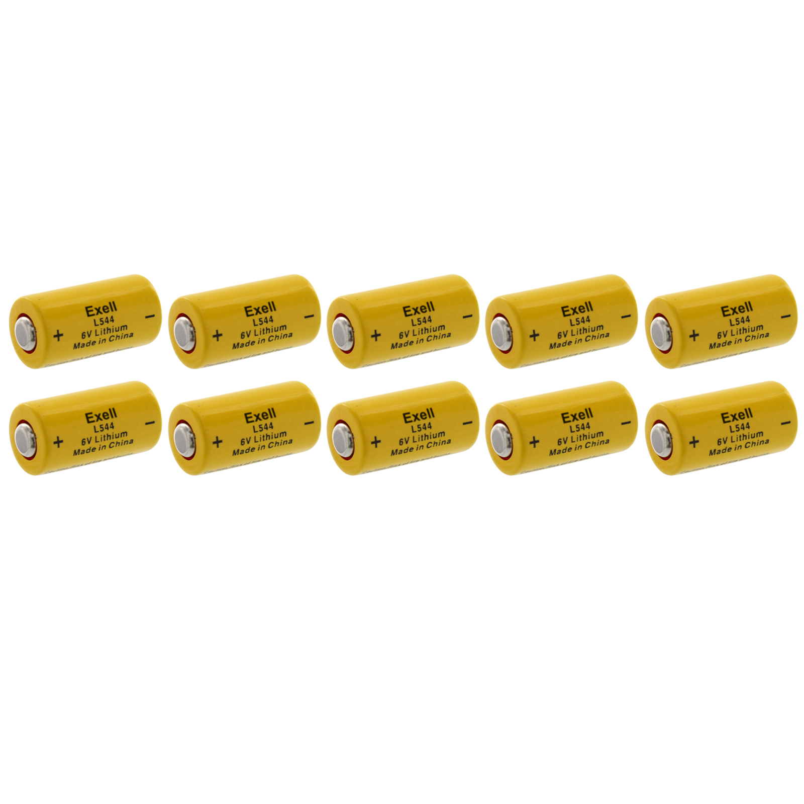 10x Exell L544 6V Lithium Battery Replaces K28L V28PXL 2C...