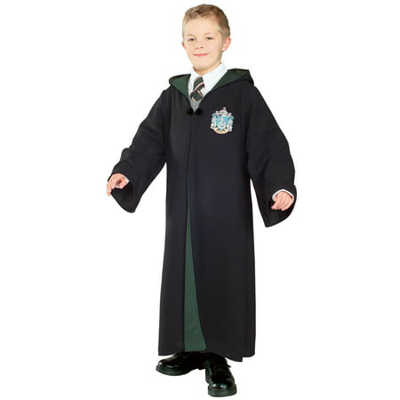Harry Potter - Deluxe Slytherin Robe Child Costume - Harry Potter Slytherin Robe