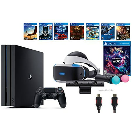 playstation vr launch bundle 9 items vr launch bundle playstation 4 pro 1tb 7 vr game disc rush. Black Bedroom Furniture Sets. Home Design Ideas