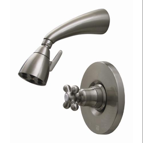 Whitehaus Collection  614. 868SH-ACO 2. 62 inch Blairhaus McKinley pressure balance valve with showerhead and bell-shaped