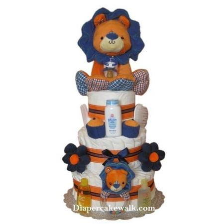 Baby Boy Safari - Roi Lion gâteau de couche-culotte