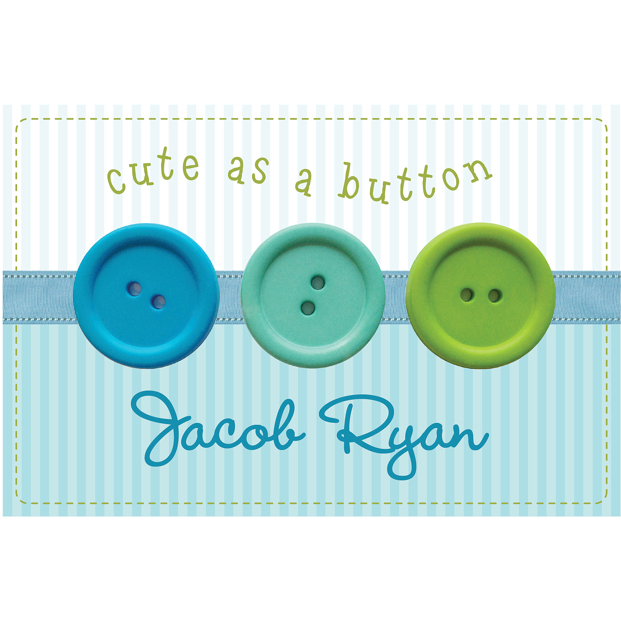 Personalized Cute As A Button Floor Mat For Boys