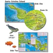 Franko Maps Santa Catalina Island Map for Scuba Divers and Snorkelers