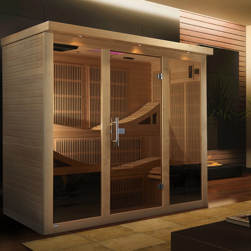 Dynamic Infrared Monaco 6 Person Carbon FAR infrared Sauna by Dynamic Sauna