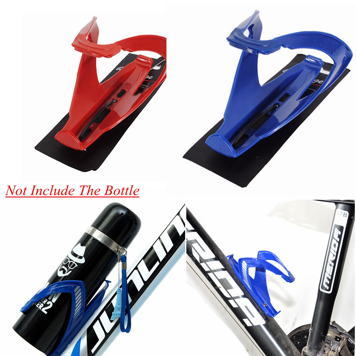 4 pcs Light-weight Bike Water Bottle Drinks Holder Carrier Cage for Bike Bicycle Cycle Cycling Glass Fiber Water Bottle Clamp