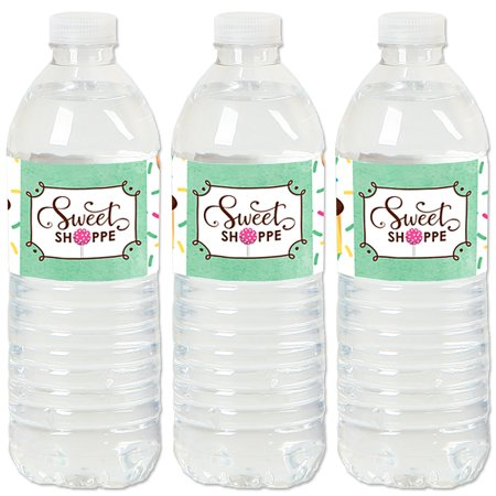 Sweet Shoppe - Candy and Bakery Birthday Party or Baby Shower Water Bottle Sticker Labels - Set of 20 (Halloween Shoppe)